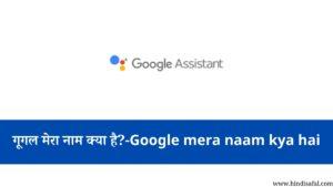 गूगल मेरा नाम क्या है?-Google mera naam kya hai
