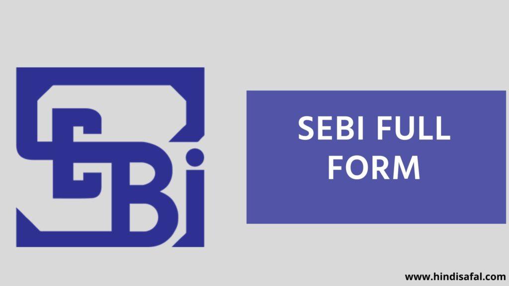 SEBI Full Form