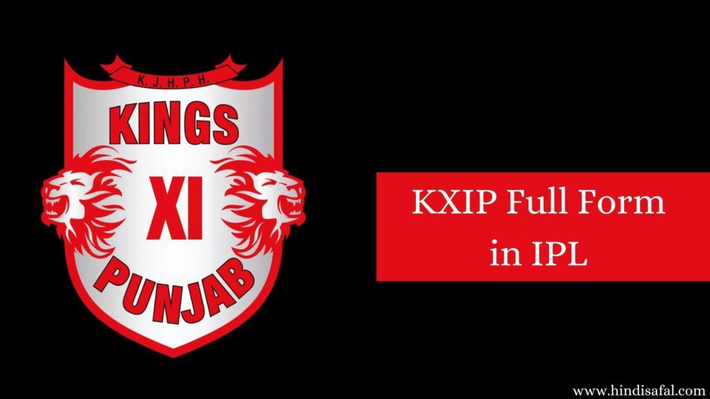 KXIP Full Form in IPL